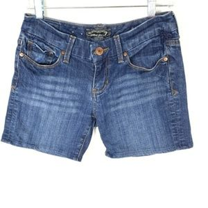 Seven 7 Dark Wash Bermuda Denim Shorts Jean 28